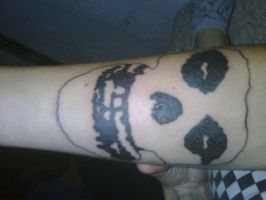 Fiend Skull Tattoo by VictoriaTriip