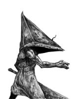 Quick Pyramid Head sketch by SilentIvo