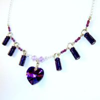 Resistor, Capacitor, and Purple Heart Necklace by Techcycle