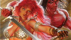 Red Sonja and Conan Wallpaper By Alex Ross by Gilgamesh-Scorpion
