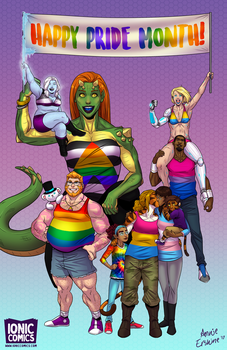 Ionic Comics Pride Month Poster 2017 by annieawesomesauce