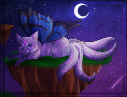 Butterfly , sparkle in the Night by chocobeery
