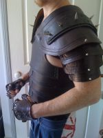 Black Spiked Leather Armor by Dragon8or