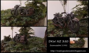 Suomussalmi 1941 : Painting DKW NZ 350 (1:35) by Makingscalemodels