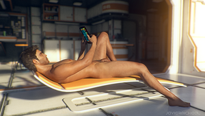 Afternoon Maintenance: Scifi Nude Males :Challenge by JavierMicheal