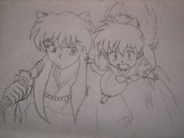 Inuyasha and Shippo by Amaze-ingHats