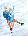 Jack and Elsa Ice-Skating! by Scent-of-Ginger