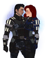 [ME] Kaidan and Addyson for citadelsushi by hes-per-ides