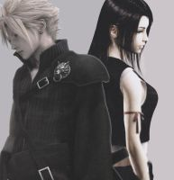 Cloud and Tifa by Amaya91