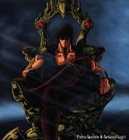 Kenshiro on throne by Pieshiro
