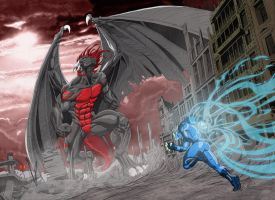 Blue versus the dragon by sektujai