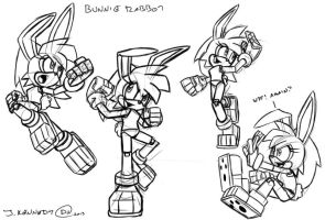 Character Study - Bunnie Rabbot by DarkNoise-Studios