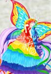 Evolving Image Rainbow Goddess by kittyocean