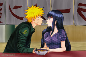 naruhina commission by xilverxparkle