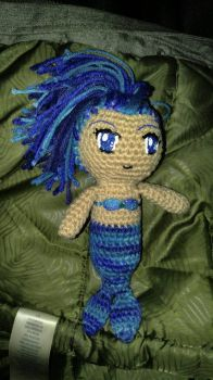 Small blue mermaid  by TehKnittyKitty