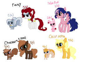 Pony theme 1-4 and LPS Adopts by Cartoonfangirl4
