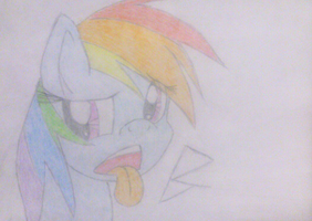 Rainbow Dash Sticking Her Tongue Out by Bass-Senpai