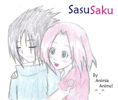 SasuSaku Hug by AnimiaAnime