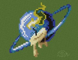 RushLight Invader Pixel Art Minecraft by RushLightInvader