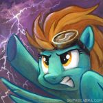 Square Series - Lightning Dust by sophiecabra