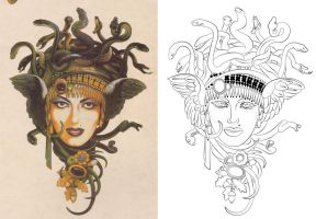 Medusa Tattoo by lewiscarrington