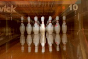 Rolling Ball, Before Pins Fall by wagn18