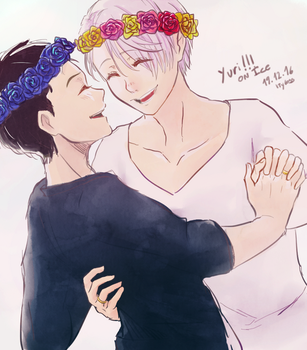 Victuuri (+Speedpaint) by Ityloss