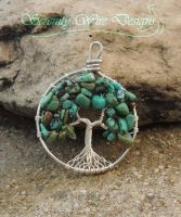 Turquoise Tree of Life *SOLD* by SerenityWireDesigns