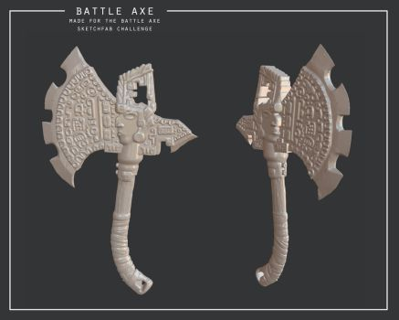 Battle axe by Nat-the-witch
