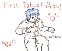 First Tablet Draw by CyberPikachu