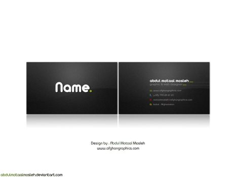 Ab Motaal Mosleh Business Card by AbdulMotaalMosleh