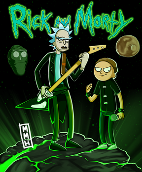 Rick and Morty by MightyMetalHead