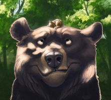 Bear and Chippy detail by hellcorpceo