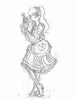 TRADITIONAL: Normal Ally Pose Sketch by InvaderIka
