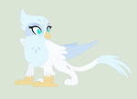 .: Pretty Snowy Griffon -will name later- :. by EpiclyAwesomePrussia