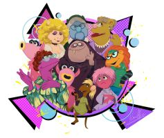 Female Muppets by nuriaabajo
