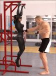 Catwoman abs-punching workout ( .gif animation) by DahriAlGhul