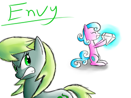 Ponies of the 7 Deadly Sins: Envy by Gallade77