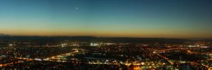 Gold Coast Sunset Panorama by ThEReAlWaZzAr