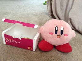 Kirby And A Box of Chicken McNuggets by TheIransonic