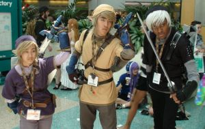Link, Link, and Dark Link from The Legend of Zelda by trivto