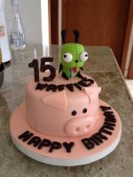 GIR Birthday Cake by WalkingMadness