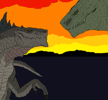 Zilla And Godzilla by Redspets