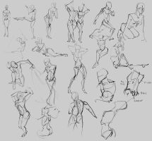 Human gesture sketches by Alumx