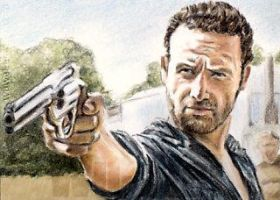 Andrew Lincoln mini-portrait by whu-wei