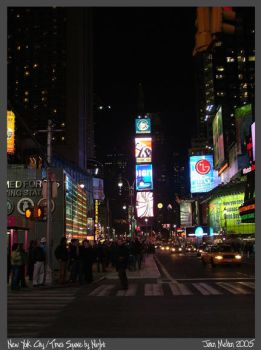 Times Square by Night by Aideon