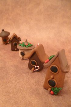 Miniature Bird House/Fairy House Figurines by FlyingFrogCreations