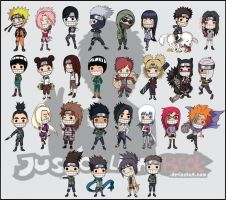 naruto chibi characters pack 1 by justcallmeBECK