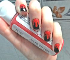 Blood nails by TiredZombie98