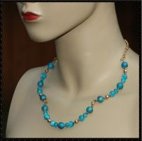 3-Part Necklace - In Aqua by HasturCTS